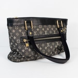Louis Vuitton Lucille Mini Lin Black/Cream